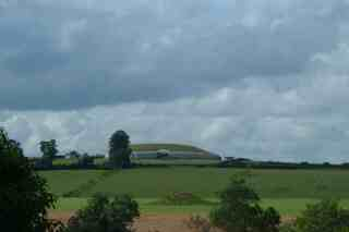 Newgrange with in the foreground Mount A